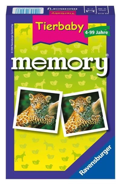 Ravensburger 23013 - Tierbaby memory®, der Spieleklassiker für Tierfans, Merkspiel für 2-8 Spieler ab 4 Jahren