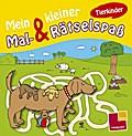 Mein kleiner Mal- & Rätselspaß. Tierkinder; Malbücher und -blöcke; Ill. v. Schmidt, Sandra; Deutsch; s/w