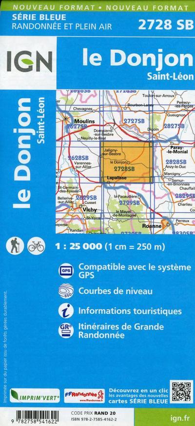 le Donjon  Saint-Léon 1:25 000