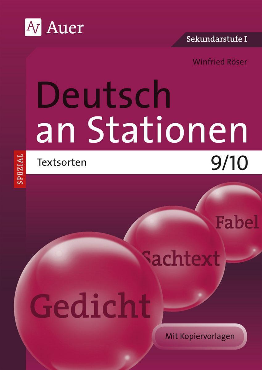 Deutsch an Stationen SPEZIAL Textsorten 9-10 Winfried Röser