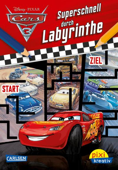 Pixi kreativ Nr. 113: VE 5 Disney: Cars 3 - Superschnell durch Labyrinthe