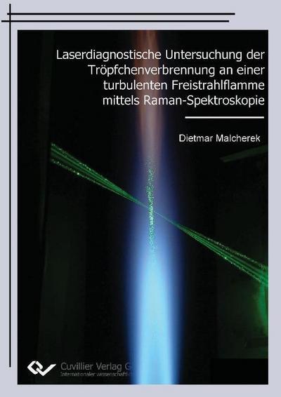 Laserdiagnostische Untersuchung der Tröpfchenverbrennung an einer turbulenten Freistrahlflamme mittels Raman-Spektroskopie