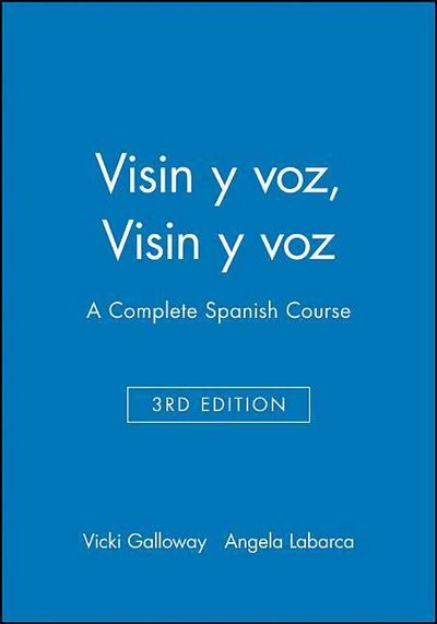 Electronic Workbook to Accompany Vision Y Voz: A Complete Spanish Course, 3e