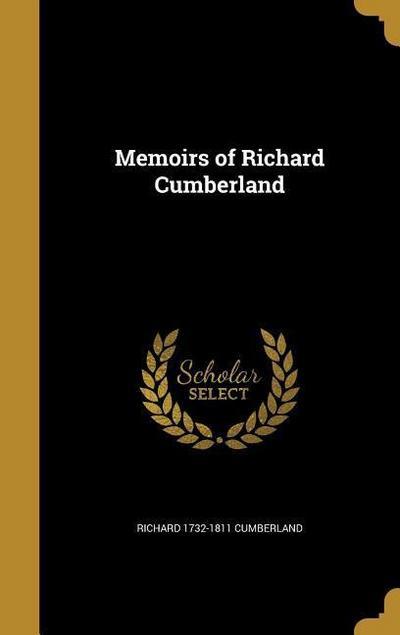 MEMOIRS OF RICHARD CUMBERLAND