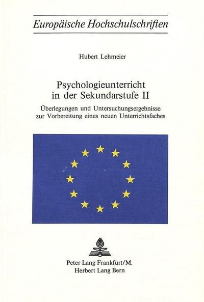 Psychologieunterricht in der Sekundarstufe II