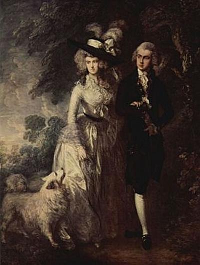 Thomas Gainsborough - Der Morgenspaziergang (Porträt des Squire Hallett und seiner Frau) - 200 Teile (Puzzle)
