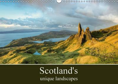Scotland's unique landscapes (Wall Calendar 2018 DIN A3 Landscape)