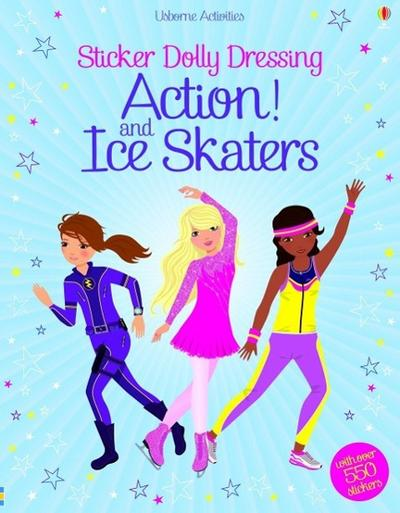 Sticker Dolly Dressing Action & Ice Skaters (Usborne Sticker Dolly Dressing)