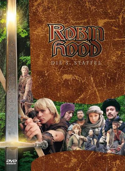 Robin Hood Staffel 3, 3 DVD-Videos, dtsch. u. engl. Version
