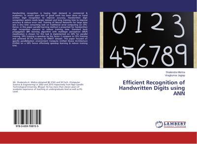 Efficient Recognition of Handwritten Digits using ANN