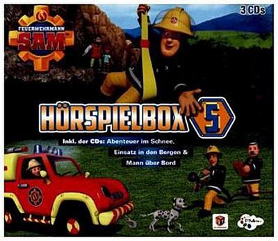 Feuerwehrmann Sam Hörspielbox. Box.5, 3 Audio-CDs