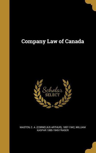 COMPANY LAW OF CANADA
