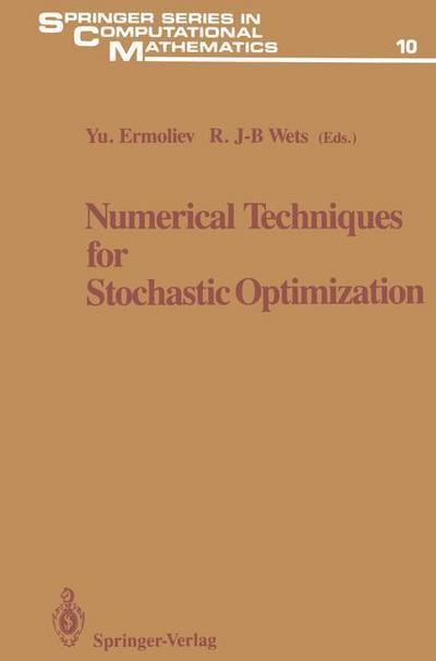 Numerical Techniques for Stochastic Optimization