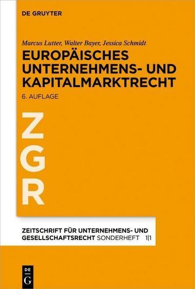 Europäisches Unternehmens- und Kapitalmarktrecht
