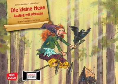 Die kleine Hexe: Ausflug mit Abraxas. Kamishibai Bildkartenset.