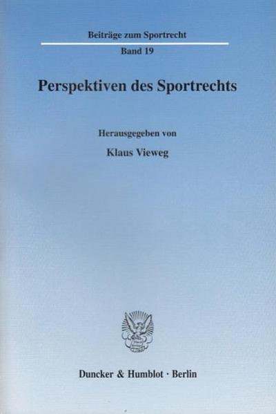 Perspektiven des Sportrechts
