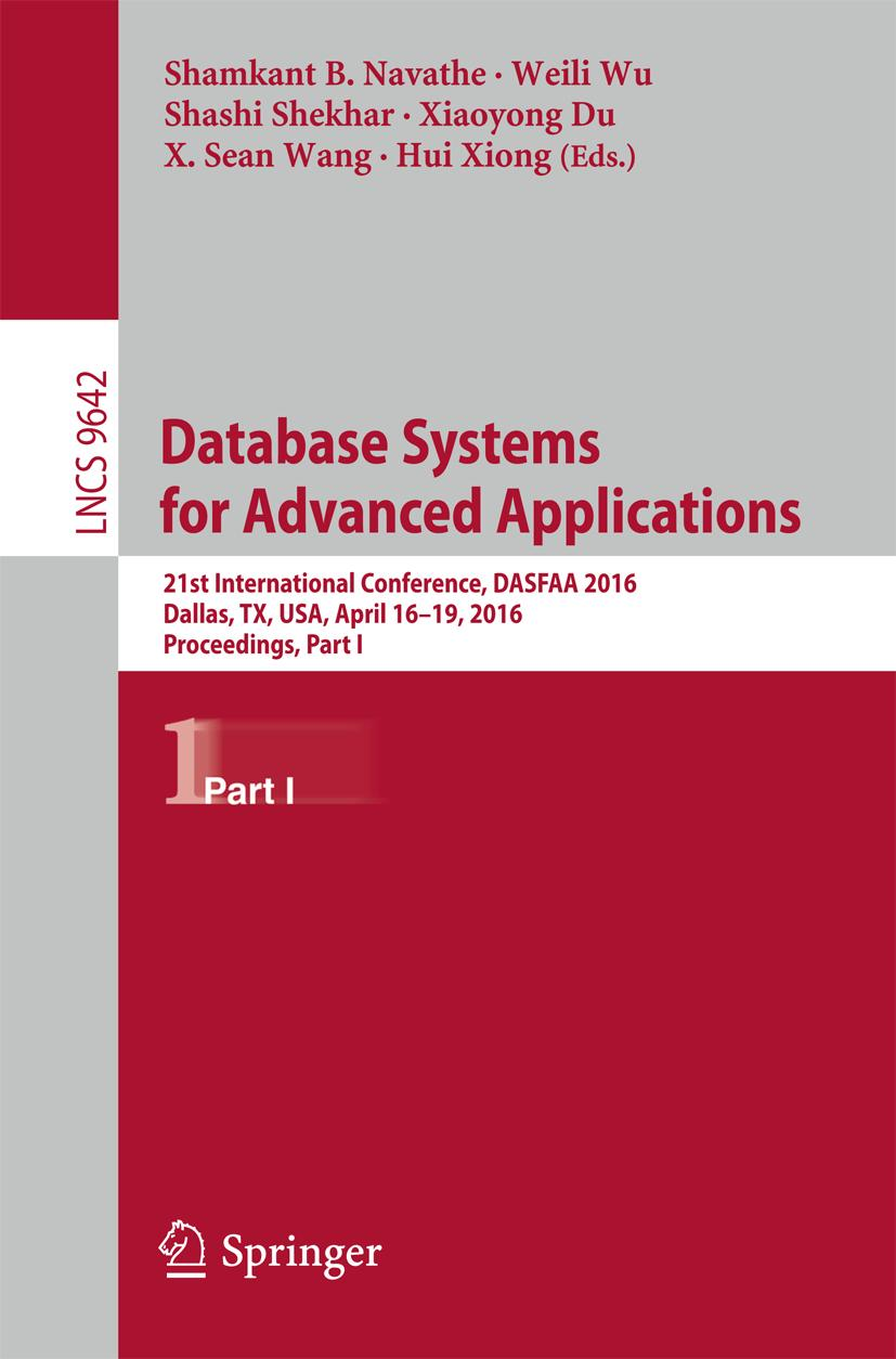 Database Systems for Advanced Applications Shamkant B. Navathe