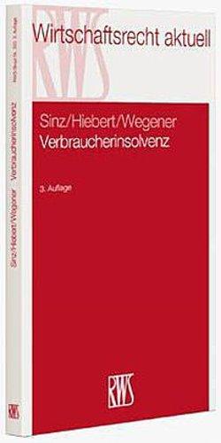 Verbraucherinsolvenz - Ralf Sinz -  9783814513355