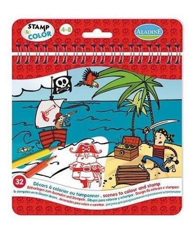 Stamp & Color Piraten