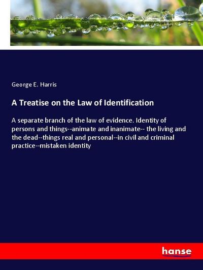 A Treatise on the Law of Identification