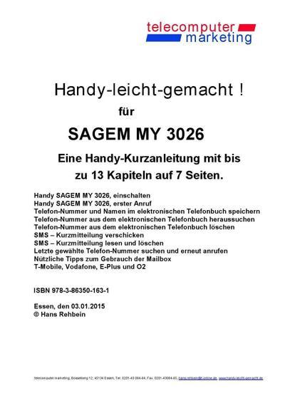 Sagem MY 3026-leicht-gemacht