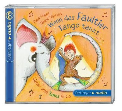 Wenn das Faultier Tango tanzt. Lieder vom Sams & Co. (CD); Lieder, ca. 44 min.   ; Ill. v. Hammerle, Nina; Deutsch; Audio-CD