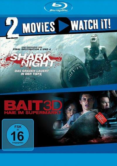 Shark Night / Bait - Haie im Supermarkt - 2 Disc Bluray