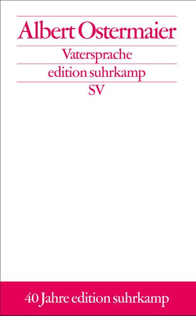 VATERSPRACHE (edition suhrkamp)