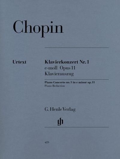 Klavierkonzert Nr. 1 e-moll Opus 11