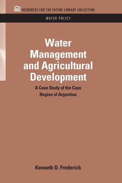 Water Management and Agricultural Development