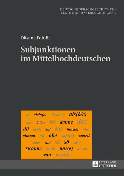 Subjunktionen im Mittelhochdeutschen