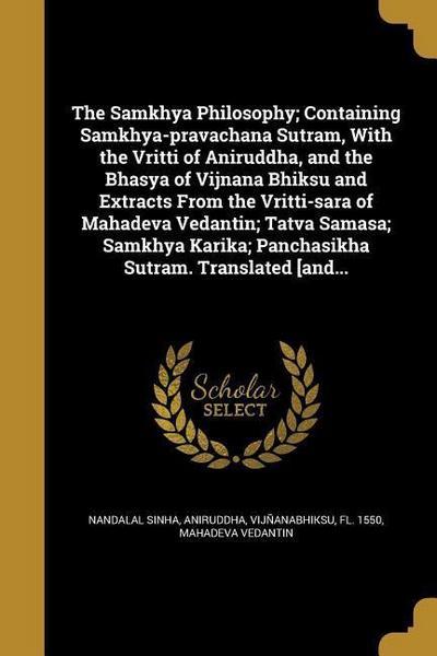 SAMKHYA PHILOSOPHY CONTAINING