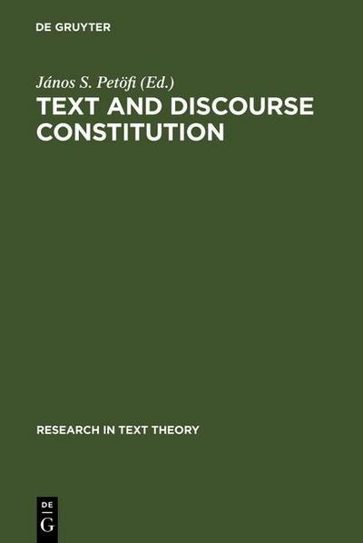 Text and Discourse Constitution