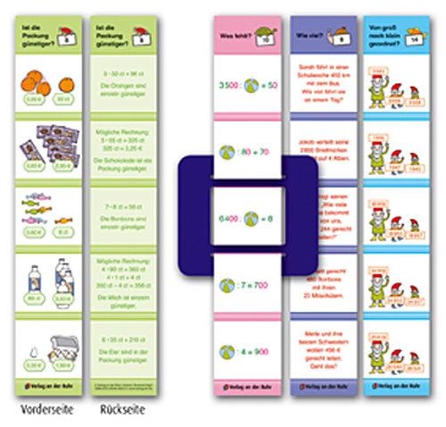 Mathematik Klasse 4 - ratzfatz geübt und kontrolliert (5-Minuten-Lernstreif ...
