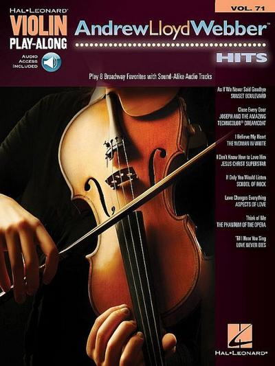 Andrew Lloyd Webber Hits: Violin Play-Along Volume 71 [With Access Code]