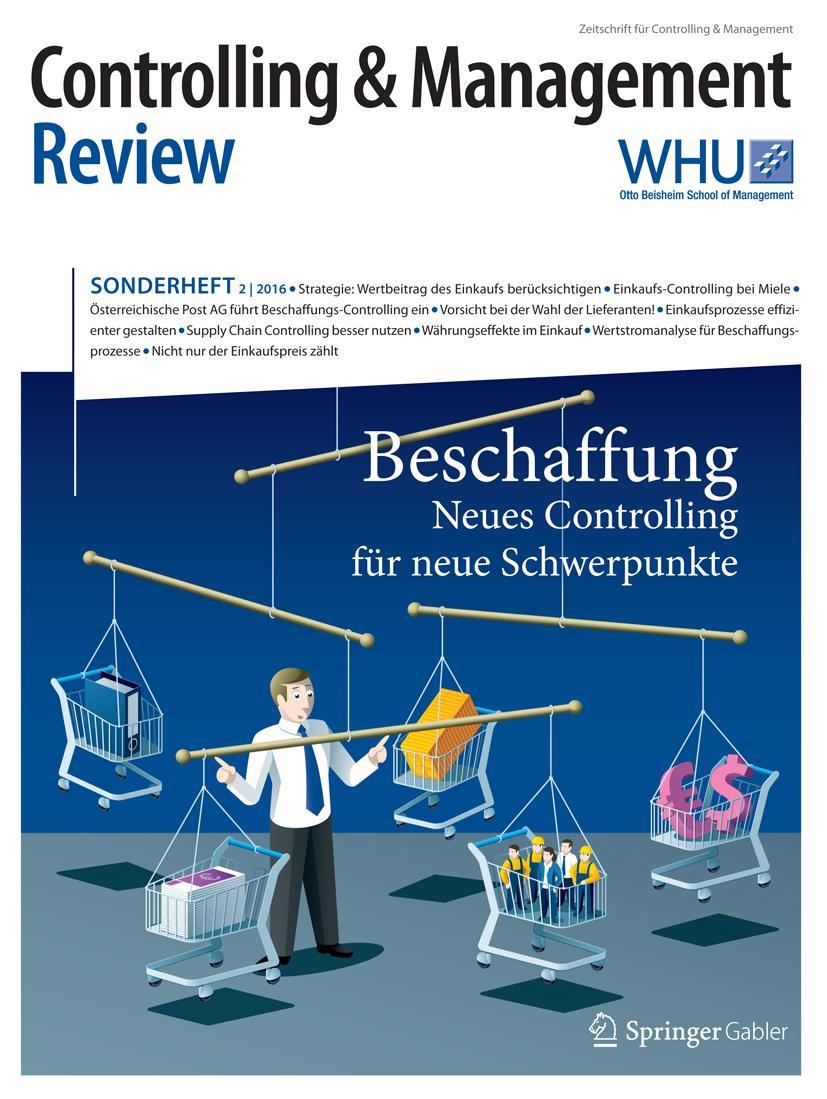 Controlling & Management Review Sonderheft 2-2016 Utz Schäffer