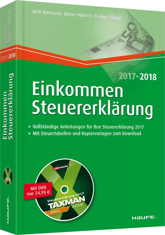 NEU Einkommensteuererklärung 2017/2018 Willi Dittmann 098677