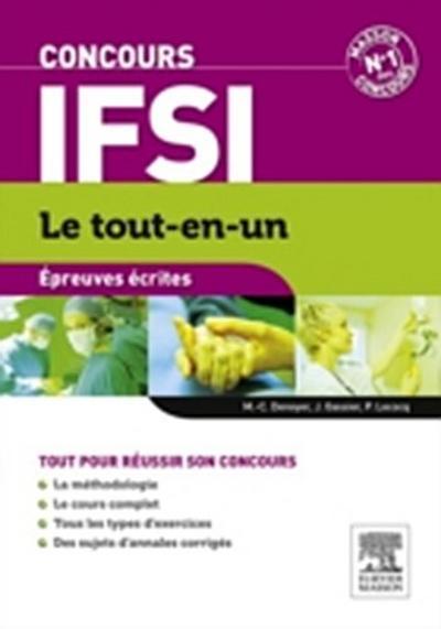 Concours IFSI Epreuves ecrites Le tout-en-un