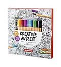 STABILO Kreative Auszeit - Ein Blüten- & Mandalatraum zum Ausmalen (Malbuch + 15 Stifte point 88)