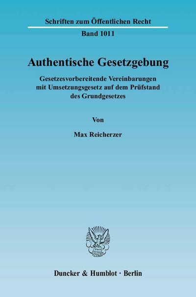 Authentische Gesetzgebung