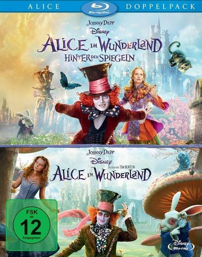 Alice im Wunderland 1+2 (Pack), 2 Blu-rays