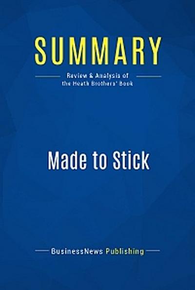 Summary: Made to Stick