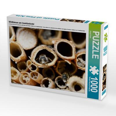 Wildbienen am Insektenhotel (Puzzle)