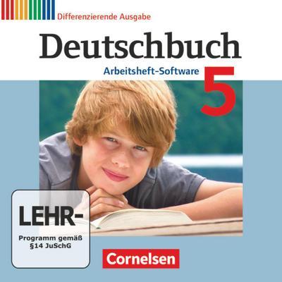 Deutschbuch, Differenzierende Ausgabe 5. Schuljahr, Arbeitsheft-Software, CD-ROM