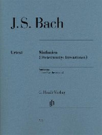 Sinfonien (Dreistimmige Inventionen) für Klavier zu zwei Händen. Revidierte Ausgabe von HN 360