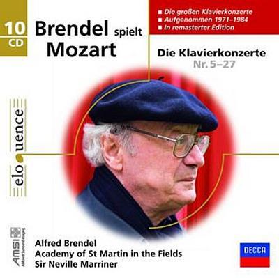 Brendel spielt Mozart, 10 Audio-CDs