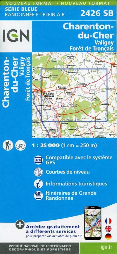 Charenton-du-Cher.Valigny.Forêt de Tronçais 1:25000