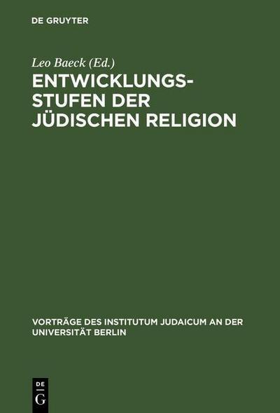 Entwicklungsstufen der jüdischen Religion