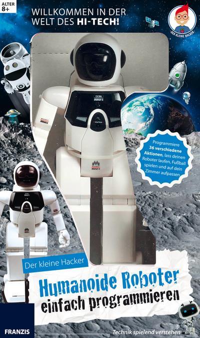`FRANZIS Lernpaket Der kleine Hacker: Humanoide Roboter einfach programmieren - FRANZIS Verlag Gmbh - Zubehör, Deutsch, Anita Woitonik, Programmiere 36 verschiedene Aktionen, lass deinen Roboter laufen, Fußball spielen und auf dein Zimmer aufpassen, Programmiere 36 verschiedene Aktionen, lass deinen Roboter laufen, Fußball spielen und auf dein Zimmer aufpassen