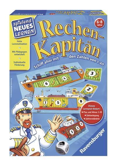 Rechen-Kapitän (1-20): Schiff ahoi mit den Zahlen von 1-20